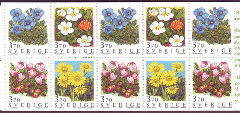 SW2124aexp Sweden booklet      Scott # 2124a  /    Facit H458,           Field Flowers 1995