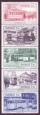 SW2131a Sweden booklet pane MNH, Trams - 1995