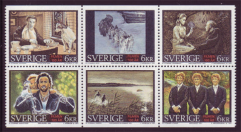 SW2143a1 Sweden booklet MNH,  100 Years of Cinema - 1995