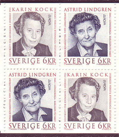 SW2175aexp Sweden booklet       Scott # 2175a /      Facit H470,             Famous Women 1996