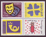 SW2185a Sweden booklet MNH, Greetings Stamps V - 1996