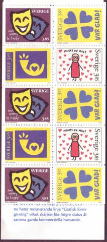 SW2185aexp Sweden booklet       Scott # 2185a /      Facit H472,       Greetings 1996