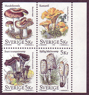 SW2190a Sweden booklet MNH,  Mushrooms 1996