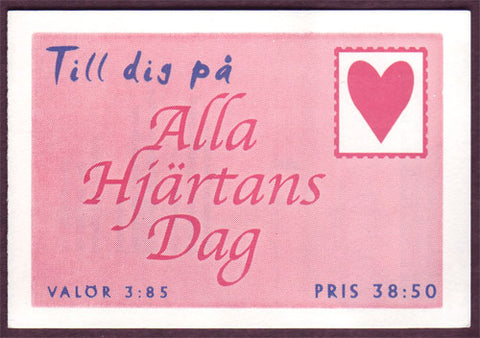 SW2218a Sweden booklet MNH, St. Valentines Day - 1997