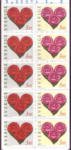 SW2218aexp Sweden booklet       Scott # 2218a MNH,                St Valentine's Day - Hearts