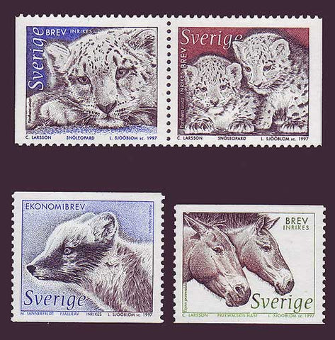 SW2219-221 Sweden Scott # 2219-22 MNH,  Wild Animals - 1997