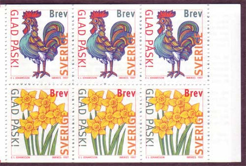 SW2224a Sweden booklet MNH,       Happy Easter - 1997