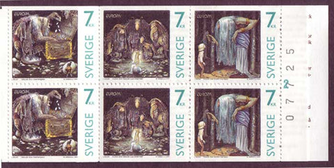 SW2237a Sweden booklet MNH      Gnomes and Trolls - Europa 1997