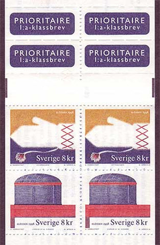 SW2278a Sweden booklet MNH     Handicrafts - 1998