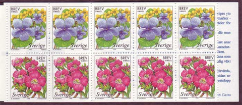SW2280a Sweden booklet MNH,      Wetland Flowers - 1998