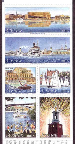 SW2286a Sweden booklet MNH,    Stockholm, The Town On The Water - 1998