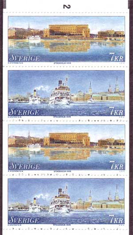 SW2288a Sweden booklet MNH,     Stockholm, The Town On The Water - 1998