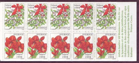 SW2315a Sweden booklet MNH,      Christmas 1998