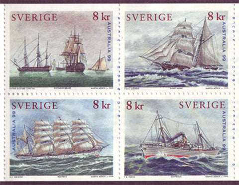 SW2342a  Sweden booklet MNH,     Maritime Heritage 1999