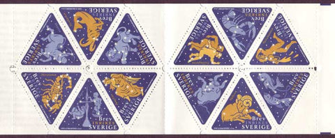 SW2354-55 Sweden booklet MNH,      Signs of the Zodiac 1999