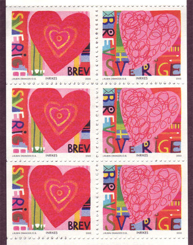 SW2371a Sweden booklet MNH,    St. Valentine's Day Hearts - 2000
