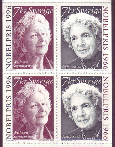 SW2399a Sweden booklet MNH,       Nobel Laureates for Literature - 2000