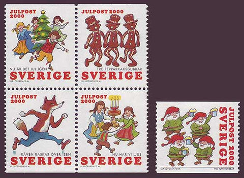 SW2401-021 Sweden Scott # 2401-02 MNH, Christmas Songs - 2000