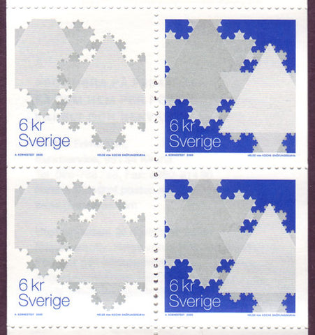 SW2403c Sweden booklet MNH,      Christmas 2000 - Snowflakes