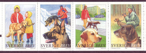 SW2408 Sweden booklet pane MNH,      Dogs 2001