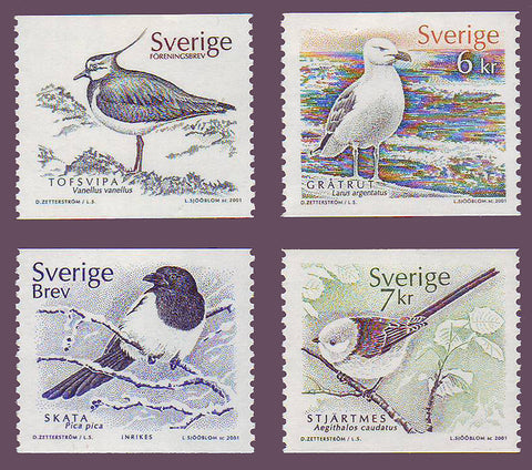 SW2409-121 Sweden Scott # 2409-12 MNH, Birds - 2001