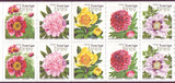 SW2417f  Sweden booklet MNH,      Peonies 2001