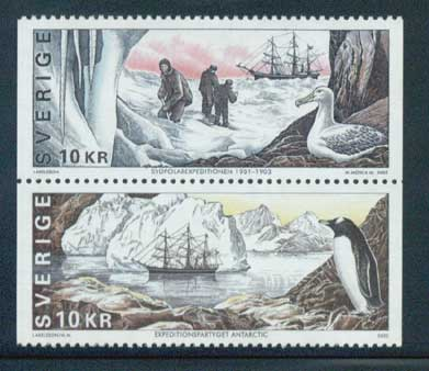 SW24301 Sweden Scott # 2430 MNH, The South Polar Expedition Centenary 2002
