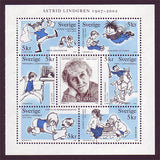 SW2431 Sweden booklet MNH,       Astrid Lingren, Children's Book Writer - 2002