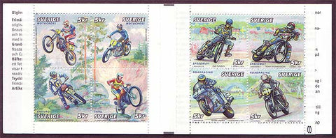 SW2446-47 Sweden booklet MNH,      Motorcycle Sports - 2002