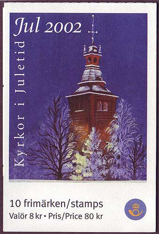 SW2450 Sweden booklet MNH,   Christmas Churches 2002