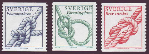 SW2454-561 Sweden Scott # 2454-56 MNH,  Knots 2003