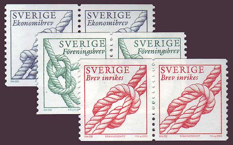 SW2454-56x21 Sweden Scott # 2454-56 pairs MNH, Knots 2003