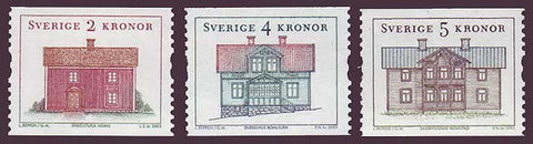 SW2457-591 Sweden Scott # 2457-59 MNH,  Regional Houses - 2003
