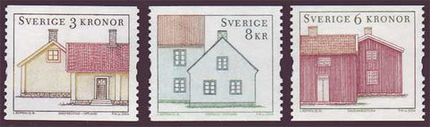 SW2485-871 Sweden Scott # 2485-87 MNH, Cottages 2004