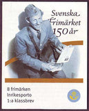SW2512-13 Sweden booklet MNH, 150th Anniversary of Swedish Stamps
