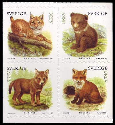SW25181 Sweden Scott # 2518 MNH, Juvenile Wild Animals 2005