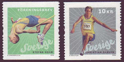 SW2531-321 Sweden Scott # 2531-32 MNH, Track and Field 2006