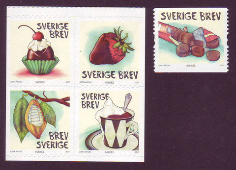SW2566-67 Sweden # 2566-67 MNH,   Chocolate 2007