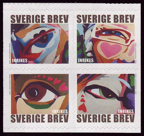 SW25851 Sweden # 2585 MNH,  Eyes and Hearts - Valentine's Day 2008