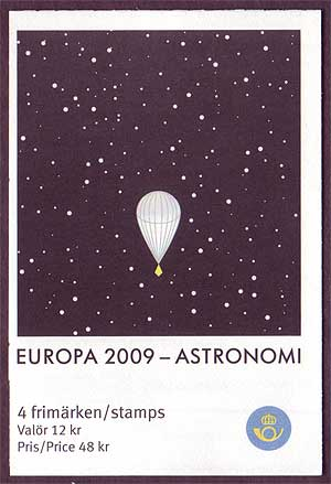 SW2605c Sweden booklet MNH,       Astronomy -  Europa 2009