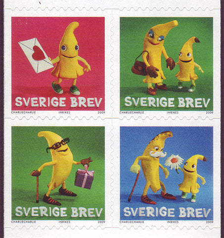 SW26141 Sweden # 2614 MNH,  Bananas - Greetings Stamps 2009
