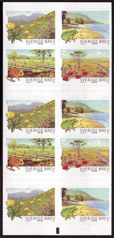 SW2619e Sweden booklet MNH, Flora and Fauna 2009