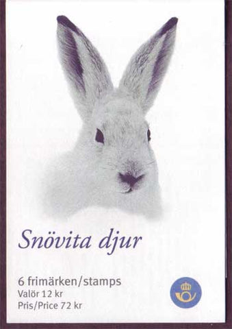 SW2625d Sweden booklet # 2625 MNH,  Animals in White - Christmas 2009