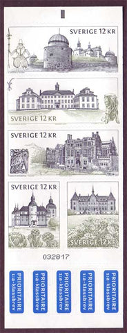 SW2629 Sweden booklet   MNH,        Swedish Castles and Palaces 2010