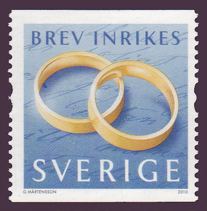 SW2634 Sweden       # 2634 MNH,            Wedding Rings 2010