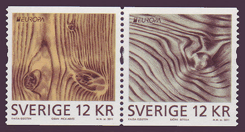 SW26561 Sweden     # 2656 MNH,            Exotic Woods - Europa 2011