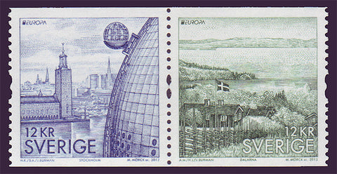 SW2674 Sweden      # 2674 MNH,     Tourist Attractions - Europa 2012