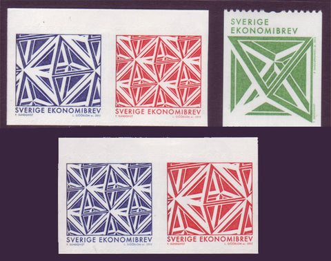 SW2675-761 Sweden       Scott # 2675-76 MNH,            Geometric Designs 2011