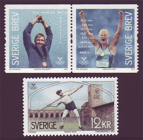 SW2688-891 Sweden   # 2688-89 MNH,            Olympic Gold Medalists 2012