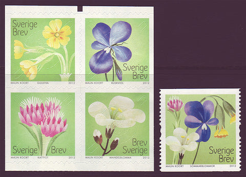 SW2691-921 Sweden       # 2691-92 MNH,           Meadow Flowers 2012